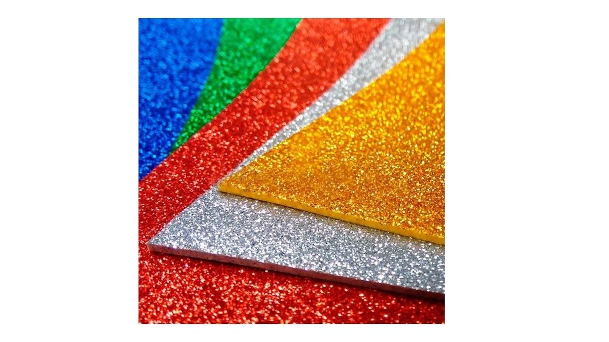22934ac3e77 plancha de goma eva con brillo variedad de colores. Cargando zoom.
