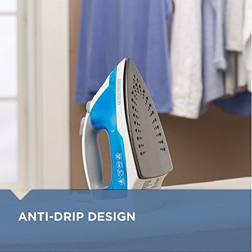 plancha de ropa a vapor black+decker ir03v easy steam azul-