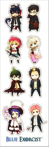 plancha de stickers de anime ao no exorcist blue