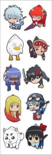 plancha de stickers de anime de gintama gintoki sakata