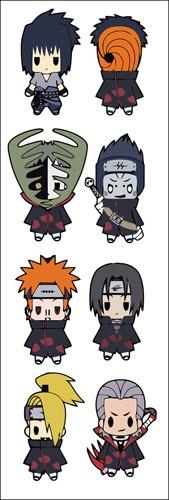 plancha de stickers de anime de k-on naruto shippuden sasuke