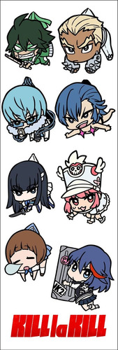 plancha de stickers de anime de kill la kill