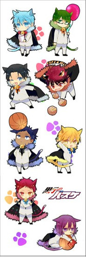 plancha de stickers de anime de kuroko no basket anime 2