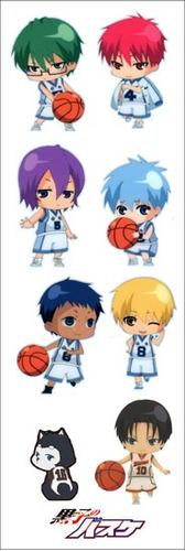 plancha de stickers de anime de kuroko no basket anime