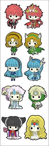 plancha de stickers de anime de magic knight rayearth clamp
