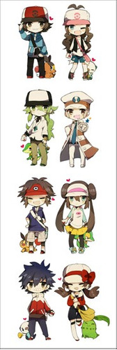 plancha de stickers de anime de pokemon