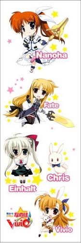 plancha de stickers de anime mahou shoujo lyrical nanoha