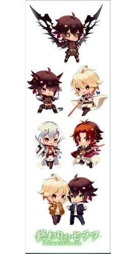 plancha de stickers de anime owari no seraph