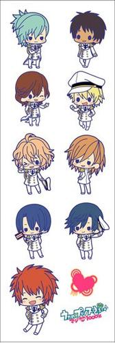 plancha de stickers de anime uta no prince shoujo