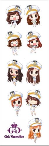 plancha de stickers de k-pop de girl's generation