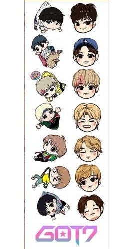 plancha de stickers de k-pop got7