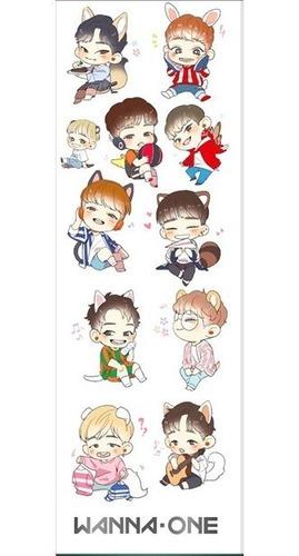 plancha de stickers de k-pop wanna one