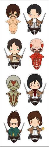 plancha de stickers de shingeki no kyojin attack on titan 2