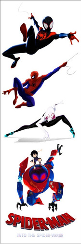 plancha de stickers de spiderman into the spiderverse marvel