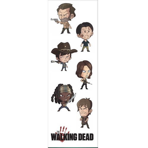 plancha de stickers de the walking dead rick grimes tv