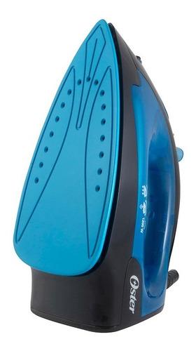 plancha de vapor con base antiadherente azul