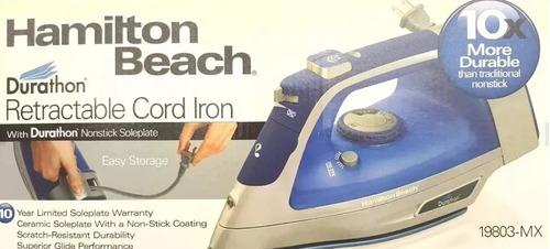 plancha de vapor hamilton beach durathon cable rectractil