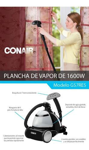 plancha de vapor vertical conair 1200w 60 min. de vapor