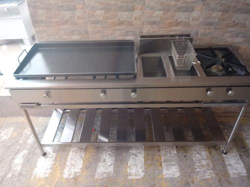 plancha freidora cocina industrial