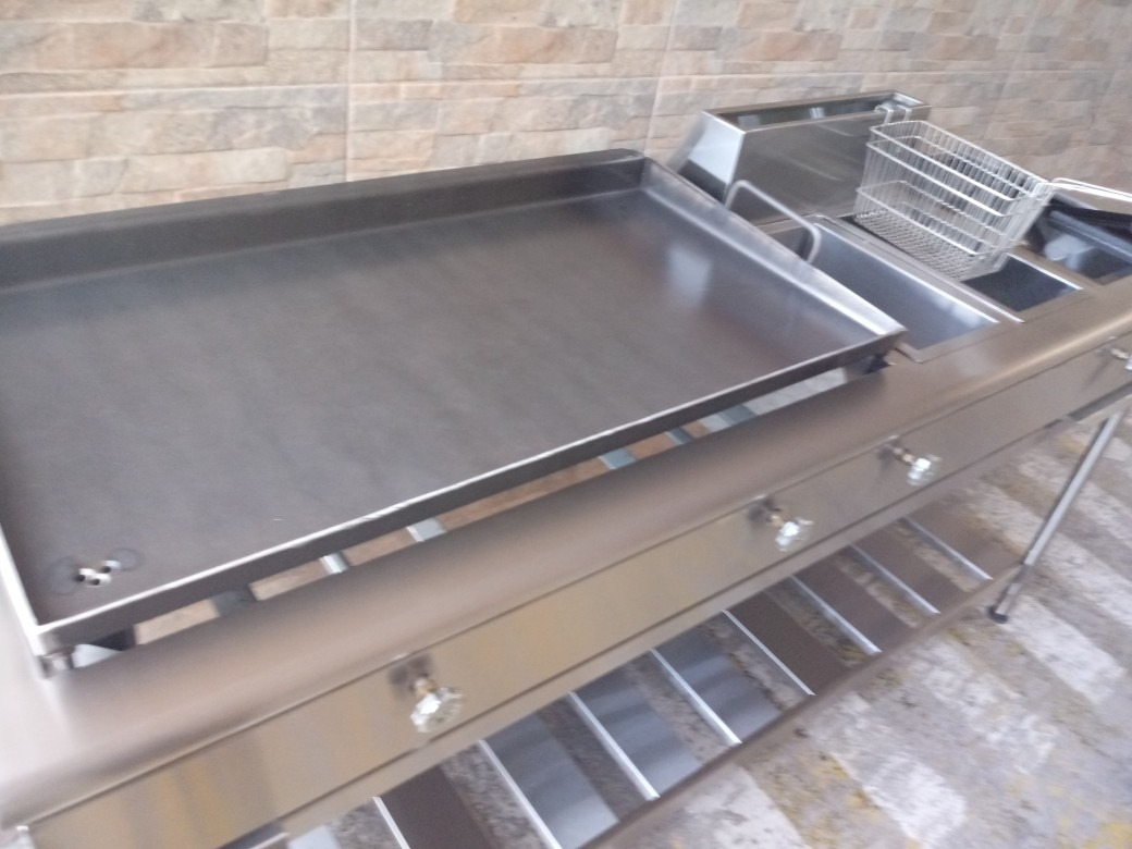 Plancha freidora cocina industrial u s 850 00 en mercado for Plancha de cocina industrial