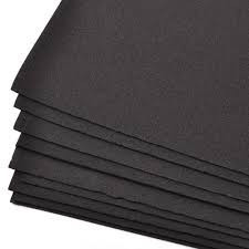 plancha goma eva 100x150 negra, espesor 5mm oferta especial