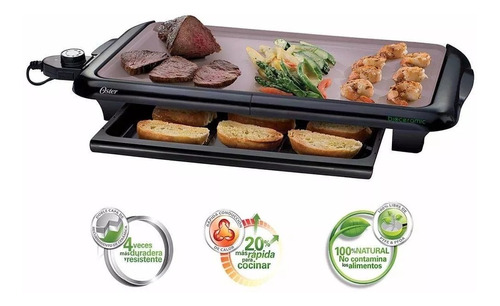 plancha grill oster ckstgrfm18w parrilla eléctrica - oferta