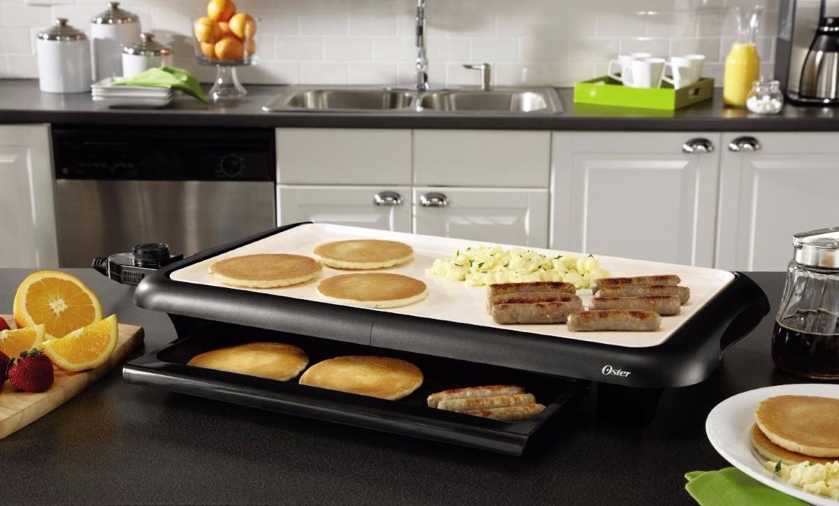 plancha grill oster oster ckstgrfm18w eco parrilla. Black Bedroom Furniture Sets. Home Design Ideas