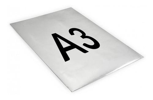 plancha impresa a3 papel opp blanco adhesivo