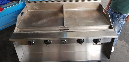 plancha industrial de piso a gas