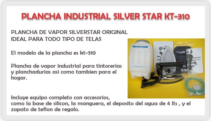 Plancha industrial vaporizadora jontex y silver star kt for Plancha industrial