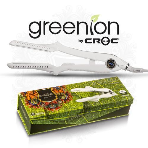 plancha para cabello croc greenion luz infraverde