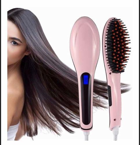 plancha para el cabello tipo cepillo