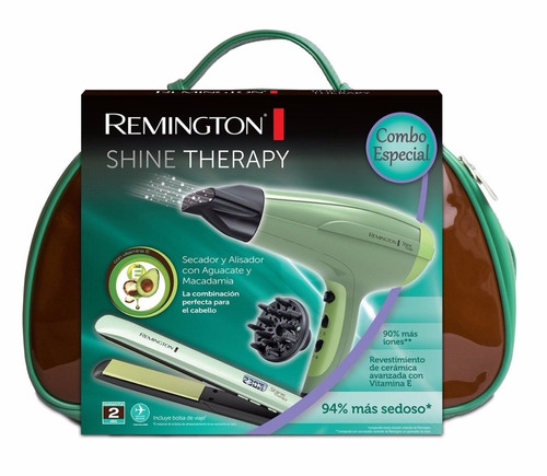 plancha + secador remington shine therapy