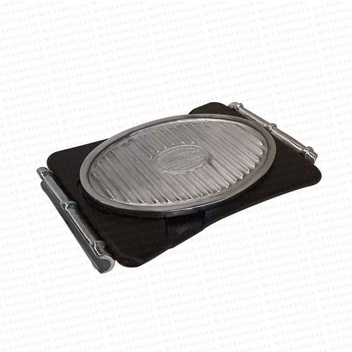 plancha termica aluminio ovalada grande - cuotas