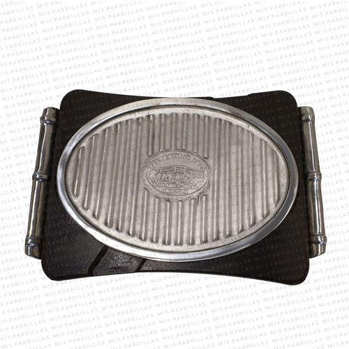 plancha termica aluminio ovalada grande - envio full