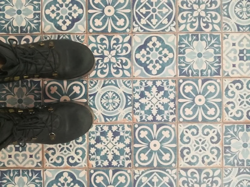 plancha vinilo lamina azulejo mosaico adhesivo 1x0.70m piso