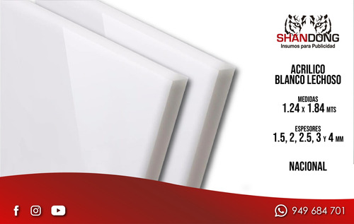 planchas de acrilico, trasparente, blanco, opal, colores