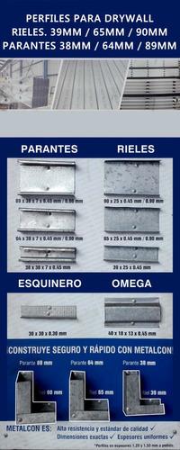 planchas drywall st, rh, rf, parantes y rieles metalcon.