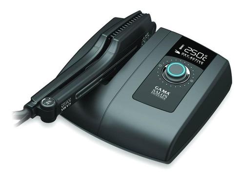 planchita de pelo ga.ma italy loky box negra con placas de silk chrome 110v/220v