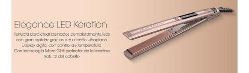 planchita de pelo gama keration elegance led con regulador