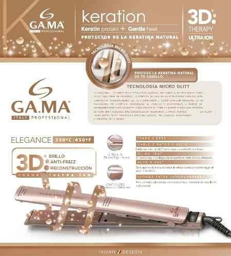 planchita de pelo gama keration elegance micro glitt y long