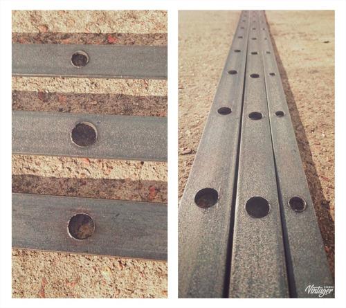 planchuelas de hierro perforadas (agujereadas para rejas)