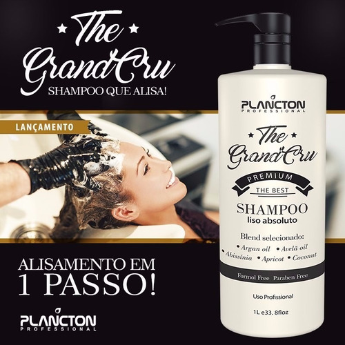 plancton shampoo que alisa liso absoluto the grand cru 500ml