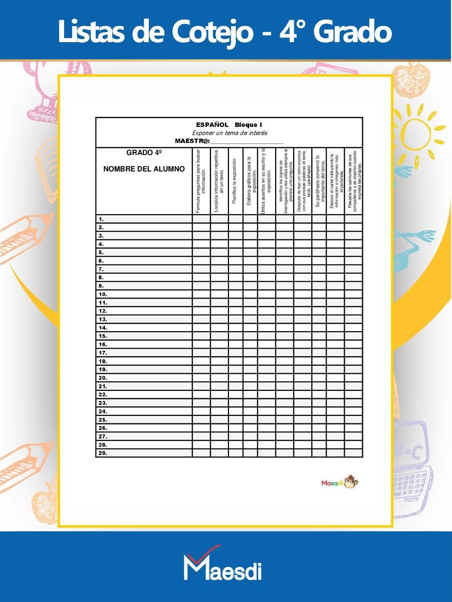 Planeaci n didactica argumentada cuarto grado de primaria for Cuarto primaria