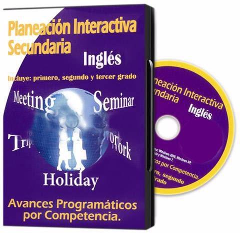 planeación interactiva secundaria inglés 1 cd rom