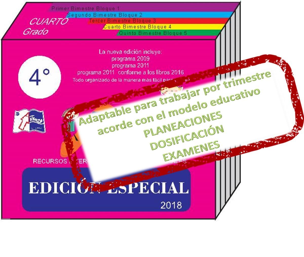Planeaciones Primaria De 4° Grado 218-2019 - $ 780.00 en Mercado Libre
