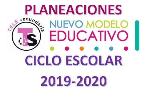 planeaciones trimestrales telesecundaria 2019-2020
