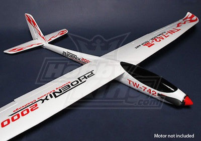 planeador phoenix 2000 epo compuesto rc rc (arf)