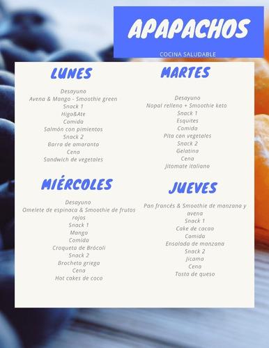 planes de comidas saludables mensual(paquete de recetas)