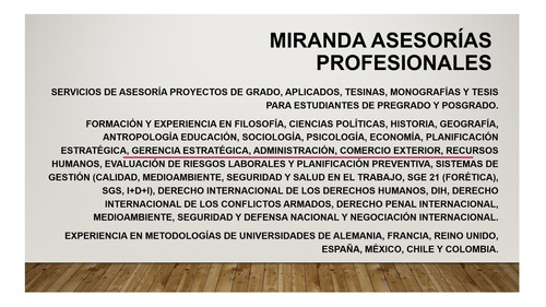 planes de negocio. asesorías en tesis pregrado y posgrado